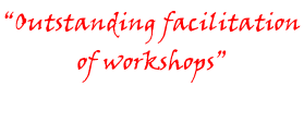 """Outstanding facilitation  of workshops"""